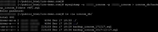 backup mysql ssh