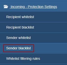 Линк Sender blacklist