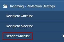 Линк Sender whitelist