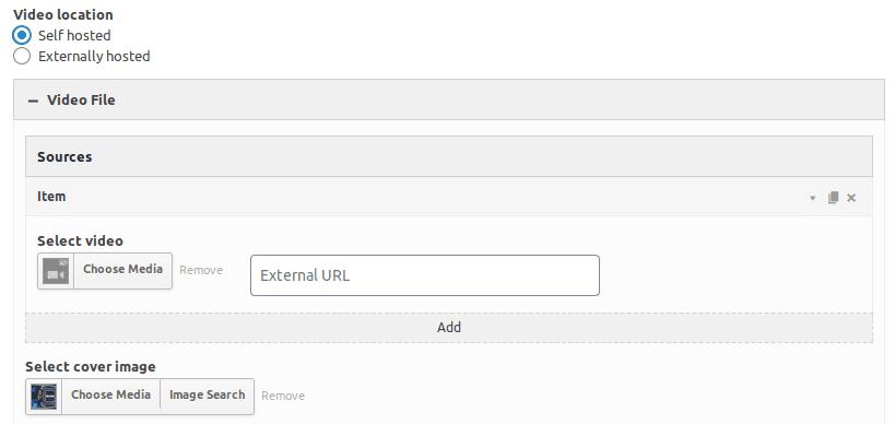 Настройване на локален видео файл