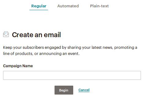 Regular Mailchimp кампания