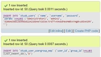 Промяна на записи в базата данни на Joomla