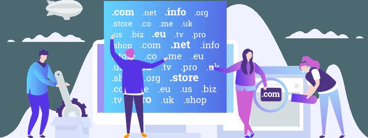 Графика избор на домейни