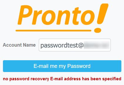 Предупреждение за липса на имейл за възстановяване
