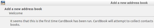 Изглед на панела след първото зареждане на CardBook