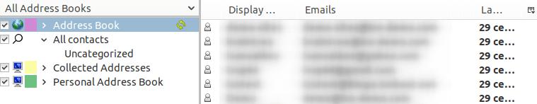 Импортиране на контактите в CardDav адресната книга