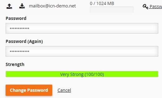 cpanel mail password