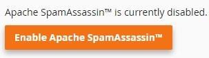 Бутон за активиране на SpamAssassin