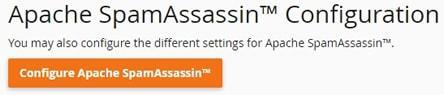 Интерфейс за конфигуриране на SpamAssassin