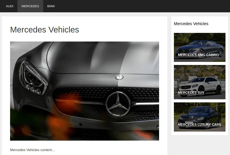 Изглед на страница Mercedes