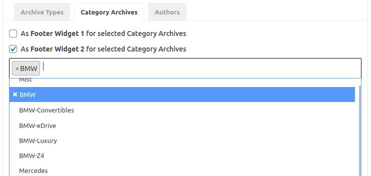 Настройка 'For Archives' за категории