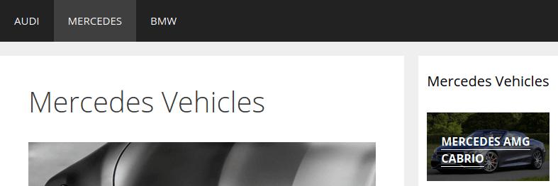 Зареждане на страница Mercedes при 800 пиксела ширина