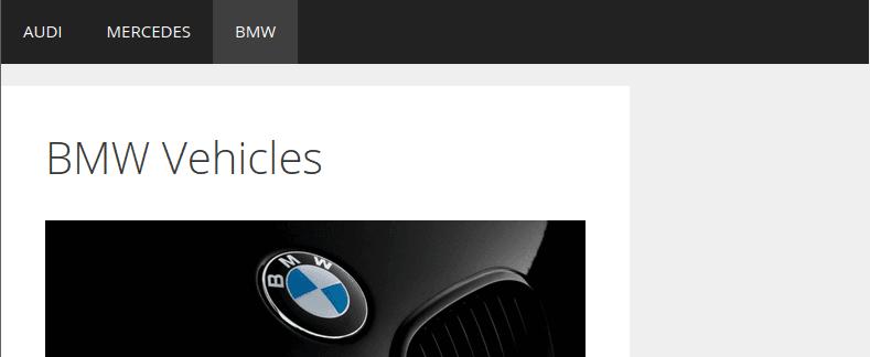 Зареждане на страница BMW при 800 пиксела ширина