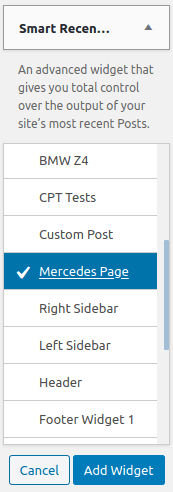 Инсталиране на Smart Recent Posts в лента Mercedes Page