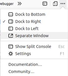 Позициониране (docking) на Web Developer