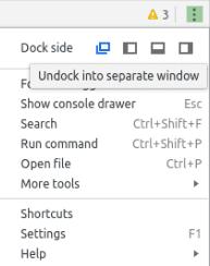 Позициониране на панела DevTools