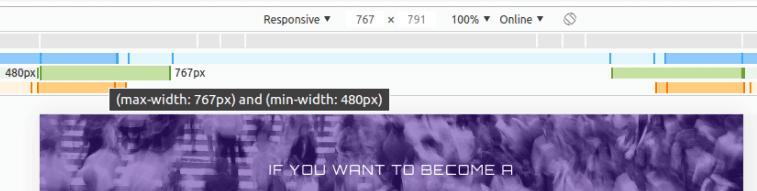 Лента за максимална и минимална резолюция (max-width и min-width