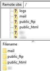 directories cpanel