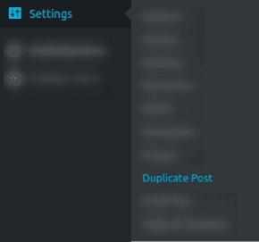 Достъп до настройките на Duplicate Post