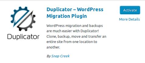 Инсталираме и активираме на Duplicator
