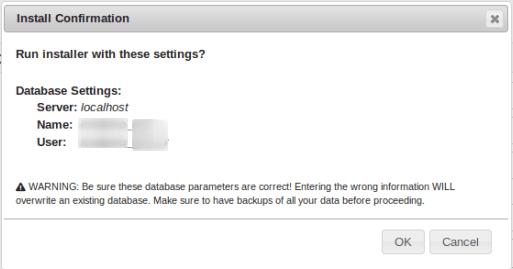 Предупреждение за изтриване на информацията в базата данни