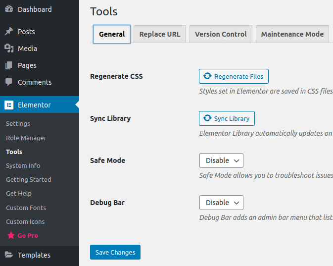 Настройки в панела Tools