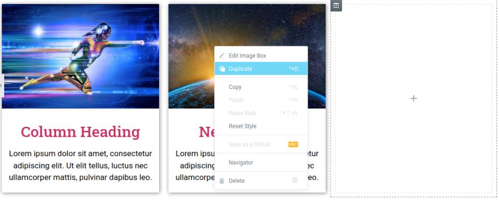 Клониране на Image Box в същата колона