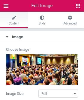 Настройки на изображение в панела Edit Image