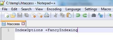Добавяне на код в .htaccess файл
