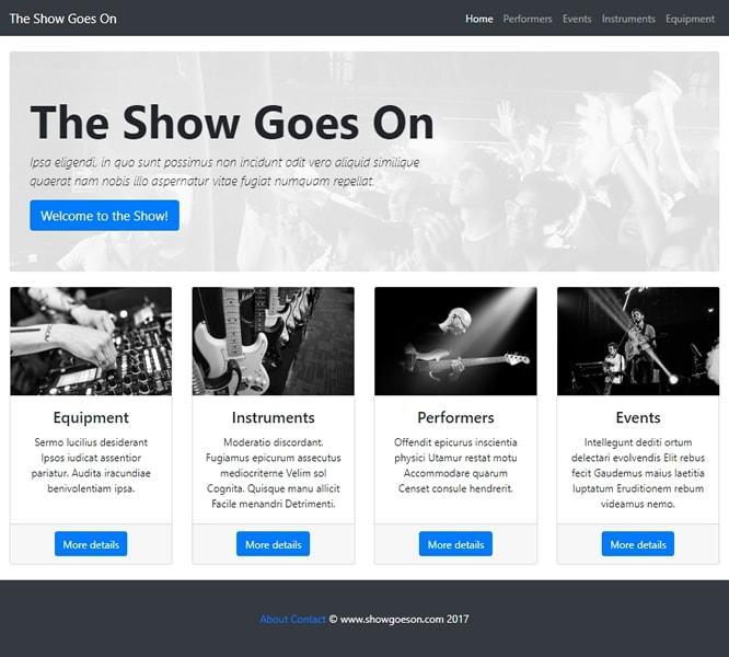 Изглед на сайта в браузър