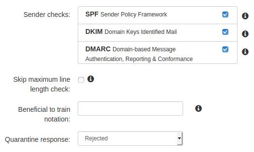 Интерфейс за управление на SPF, DKIM, и DMARC проверки