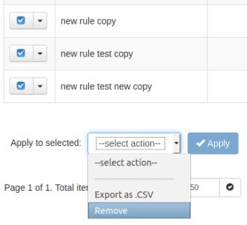 Управление на множество правила за филтриране