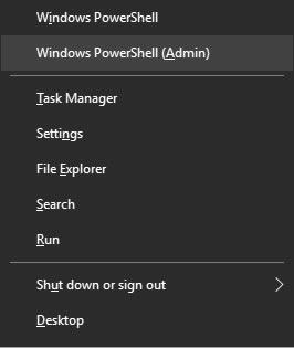 Линк към Windows PowerShell