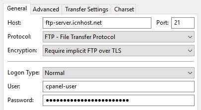 FTP връзка на порт 21