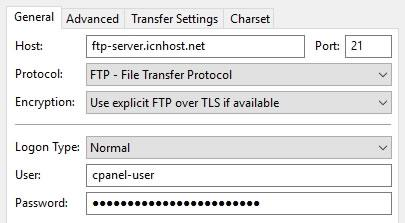 FTP опция Use explicit FTP over TLS