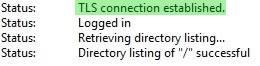 Успешно свързване с FTP сървъра