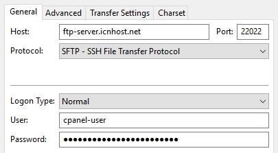 SFTP връзка с хостинг сървъра
