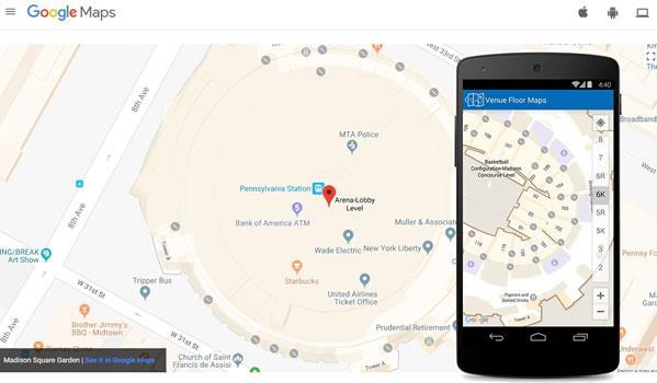 Google карти за вътрешни пространства