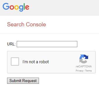 Интерфейс за добавяне на сайт в Google