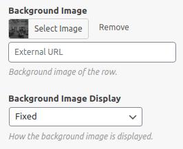 Избор на ефект с фиксирано фоново изображение