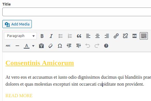 Създаване и форматиране на Features съдържанието