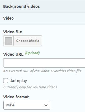 Настройките за управление на видео фон