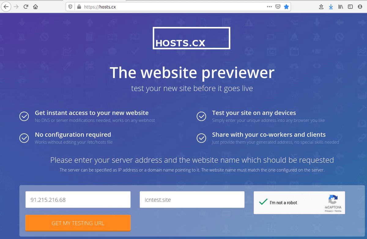 Попълване на полета с данни в hosts.cx