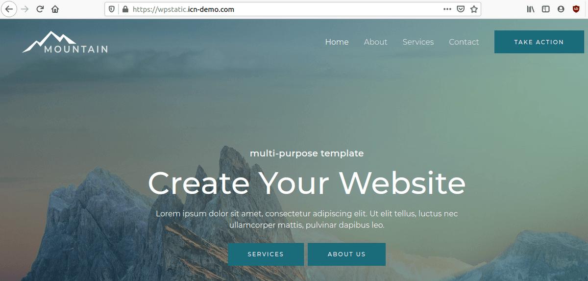 Коректно зареждане на потребителската част от сайта
