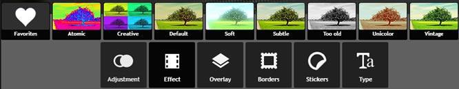 Pixlr Express ефекти