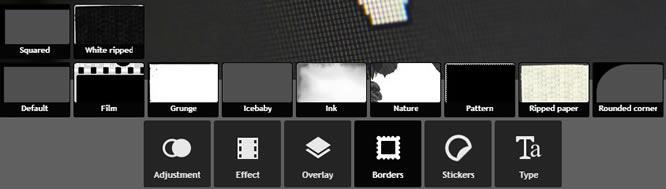 Pixlr Express граници на изображенията