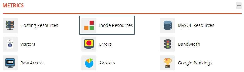 Достъп до Inode Resources в cPanel
