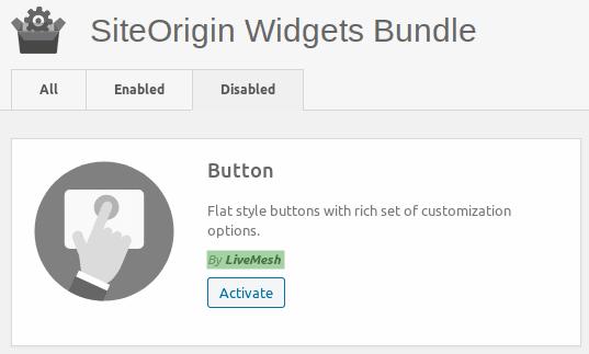 Активиране на widgets