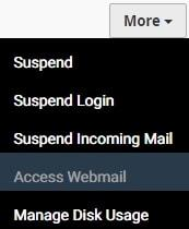 mail accounts cpanel