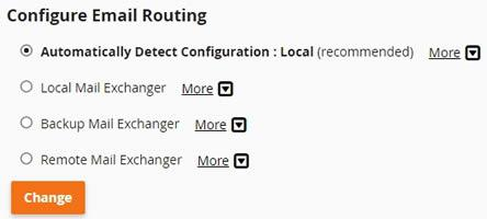 mail routing cpanel